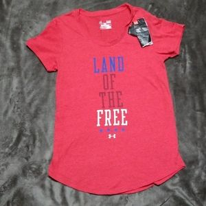 UNDER ARMOUR PATRIOTIC LAND OF THE FREE SHIRT TOP